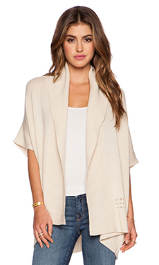Autumn Cashmere Mesh Back Sweater in Stucco