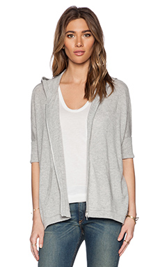 Autumn Cashmere Relaxed Hoodie in Fog