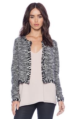Autumn Cashmere Cropped Jacket in Tweed