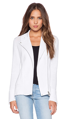 Autumn Cashmere Moto Jacket in Bleach White