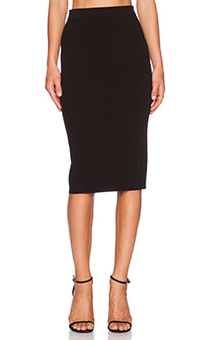 Autumn Cashmere Midi Pencil Skirt in Black