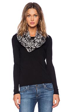 Autumn Cashmere Snake Print Snood in Sweatshirt & Black