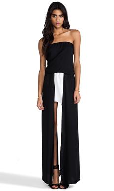 Alexis Mavra Asymmetrical Dress in Black & White
