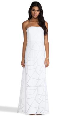 Alexis Lyona Strapless Maxi Dress in White Geometric