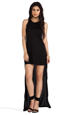 Alexis Elissa High-Lo Jersey Dress in Black