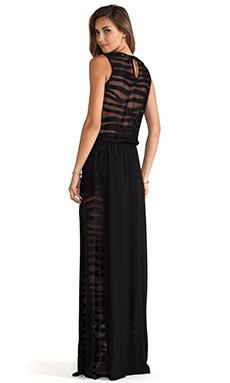 Alexis Pat V Neck Maxi Dress in Black Safari