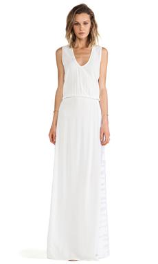 Alexis Pat V Neck Maxi Dress in White Safari
