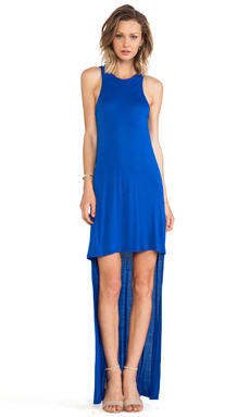 Alexis Elissa High-Low Jersey Dress in Deep Blue