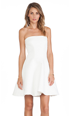 Alexis Natasia Strapless Dress in White