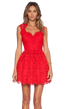 Alexis x REVOLVE Antilles Scalloped Detail Dress in Red Lace
