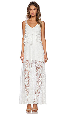 Alexis Blake Lace Maxi Dress in White