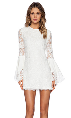 Alexis Brett Wide Sleeve Dress in White