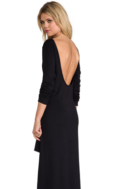 Alexis Maddie Hi-Lo Dress With Scoop Back in Black