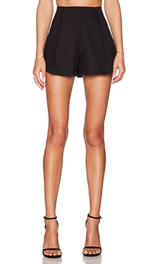 Alexis Maika Pleated Short in Black