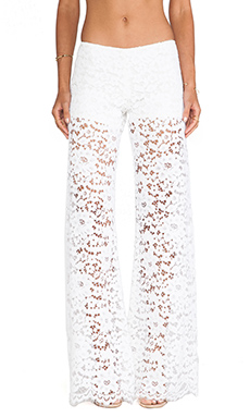 Alexis Madrid Wide Leg Lace Pants in Ivory