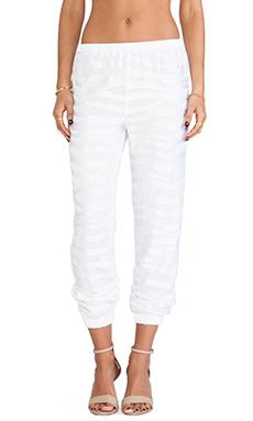 Alexis Tera Track Pants in White Safari