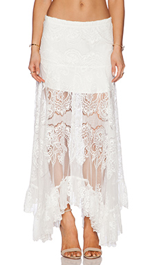 Alexis Gordan Lace Maxi Skirt in White