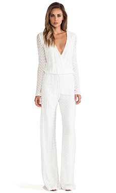 Alexis York Cross-Over Jumpsuit in White Jigsaw