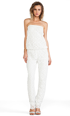 Alexis Lazar Jumpsuit in White Crochet