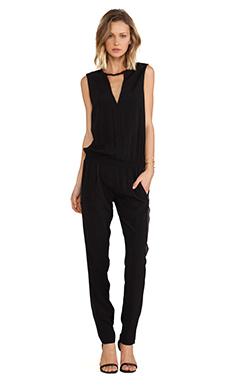Alexis Zina V Neck Jumpsuit in Black