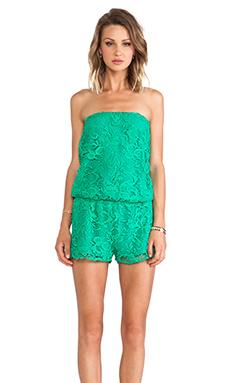 Alexis Kayleen Romper in Emerald Crochet