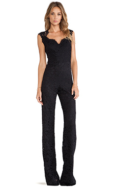 Alexis Aruba Lace Jumpsuit in Black Lace