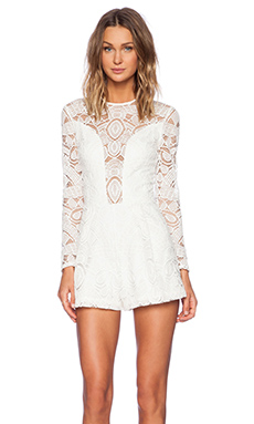 Alexis x REVOLVE Messina Long Sleeve Romper in White