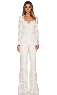 Alexis Hyatt Lace Jumpsuit in Ivory