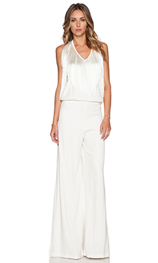 Alexis Isis Fringed Jumpsuit in Blanc