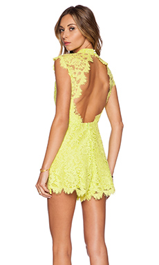 Alexis x REVOLVE Lucia Lace Romper in Lime
