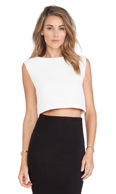 Alexis Drue Crop Top in White