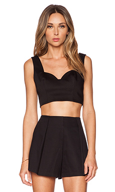 Alexis Ayden Crop Top in Black