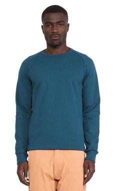 AXS Folk Technology French Terry Crew Sweatshirt in Deep Blue