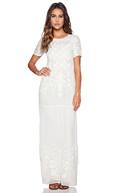ba&sh Trump Maxi Dress in Ecru