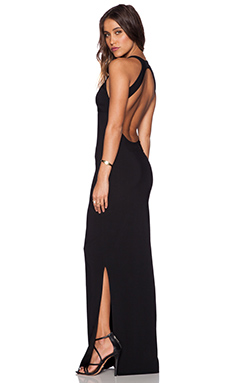 ba&sh Love Maxi Dress in Noir