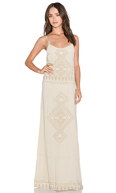 ba&sh Luss Maxi Dress in Ecru P