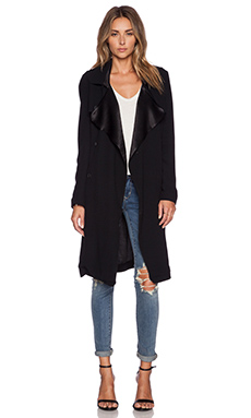 ba&sh Dhistory Trench Coat in Noir