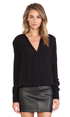 ba&sh Alleluia Top in Noir