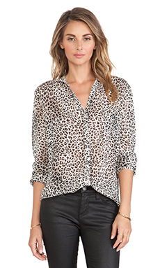 ba&sh Papave Shirt in Leopard Print