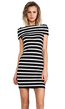 Backstage Karolina Off Shoulder Dress in Stripe