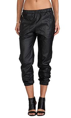 Backstage Phoenix Faux Leather Pant in Black
