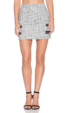 Backstage Zip Mini Skirt in Ivory