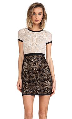 Bailey 44 Yvette Dress in Beige & Black