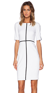 Bailey 44 Crossword Dress in White & Black