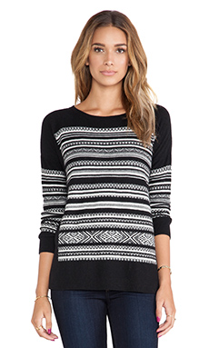 Bailey 44 Nordic Ski Sweater in Black & White