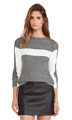 Bailey 44 Conditioned Response Sweater in Grey & Ecru