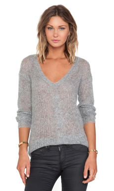 Bailey 44 Syncopated Rhythm Sweater in Grey