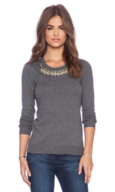 Bailey 44 Sophisticated Lady Sweater in Heather Grey