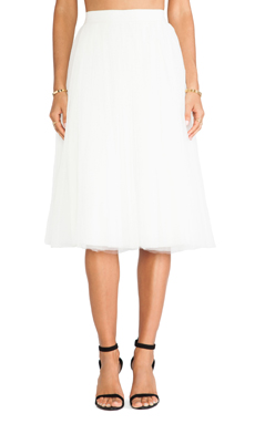 Bailey 44 Shadow Waltz Skirt in Ivory