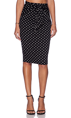 Bailey 44 Spotted Hyena Skirt in Black & White